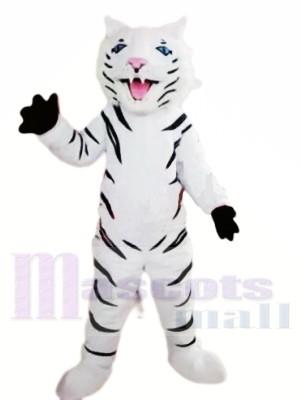 Heftiger weißer Tiger Maskottchen Kostüme