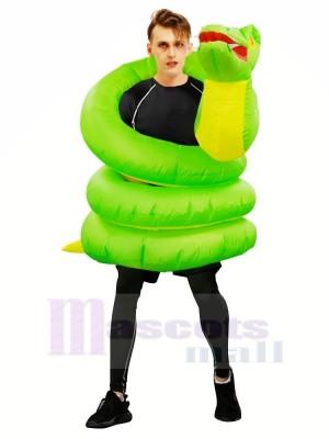 Aufblasbar Grün Schlange Boa Python Kostüm Halloween Weihnachten zum Erwachsene