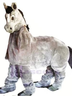 Süß Grau Neu 2 Person Pferd Maskottchen Kostüm