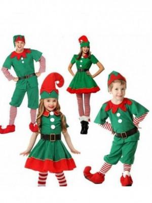 Weihnachten Elf Kostüme Kind Weihnachten Cosplay Kostüm Eltern-Kind-Anzug Geschenk