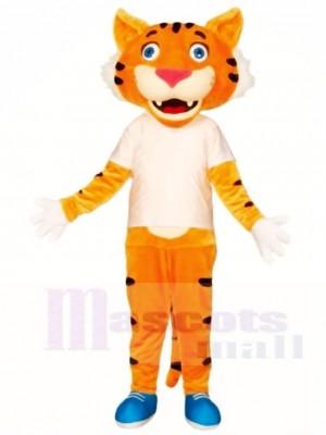 Weißes Hemd Tiger Maskottchen Kostüme Tier