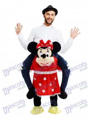 Huckepack Minnie Mouse tragen mich Fahrt Maus Maskottchen Kostüm