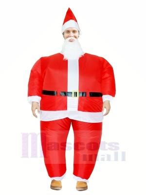 Santa Claus Aufblasbar Halloween Weihnachten Weihnachten Maskottchen Kostüme Karikatur Zum Erwachsene