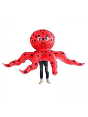 rot Tintenfisch Aufblasbar Kostüm Halloween Weihnachten Kostüm zum Erwachsener