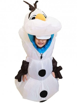 Aufblasbar Olaf Schneemann Gefroren Halloween Weihnachten Kostüme zum Kind
