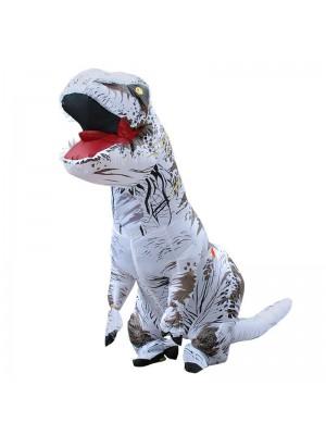 Weiß Tyrannosaurus T-Rex Dinosaurier Aufblasbar Kostüm Halloween Weihnachten zum Erwachsener/Kind