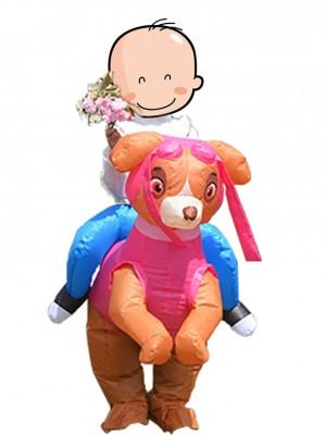 Pfote Patrouillieren Skye Rosa Hund Tragen Mir Reiten Auf Aufblasbar Kostüm