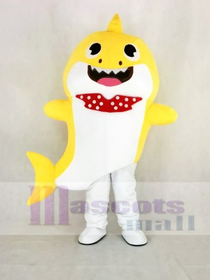 PinkFong Gelb Baby Hai Maskottchen Kostüm Karikatur