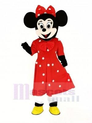 Minnie Maus im rot Maskottchen Kostüm Karikatur