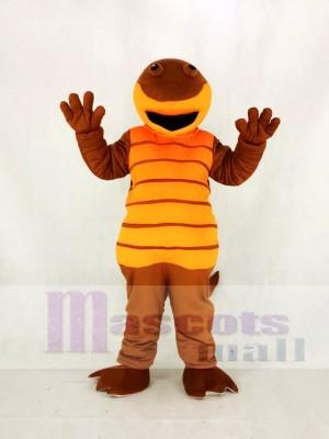Hoch Qualität Erwachsene Orange Billy Salamander Maskottchen Kostüm Karikatur
