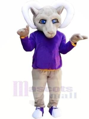 Lila Lange Ärmel Antilope Monster Maskottchen Kostüme Tier