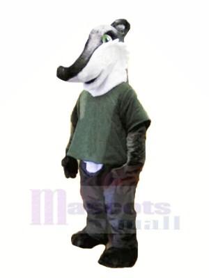 Grau Hemd Dachs Maskottchen Kostüm Tier