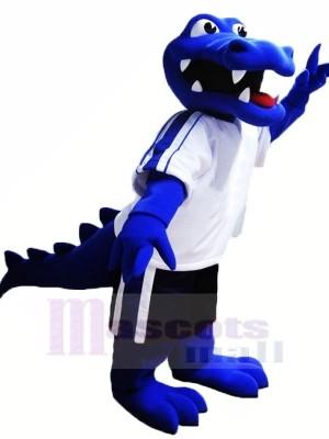 Blaues Alligator-Maskottchen kostümiert Tier