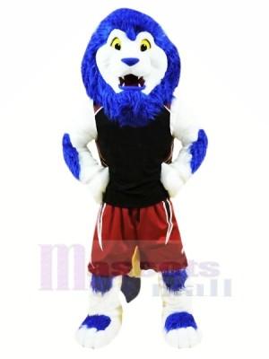 Blau Sport Löwe Maskottchen Kostüme Tier
