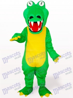 Grünes Krokodil mit großem Maul Maskottchen Kostüm für Erwachsene