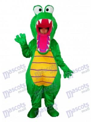 Öffnen Sie Mund-Krokodil-Maskottchen-erwachsenes Kostüm-Tier