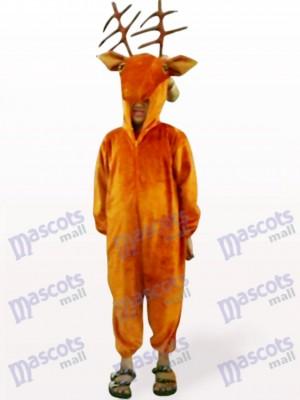 Kaffee Hirsch offenes Gesicht Kinder Tier Maskottchen Kostüm