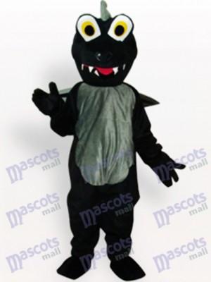 Schwarzes Dinosaurier Tier Maskottchen Kostüm für Erwachsene