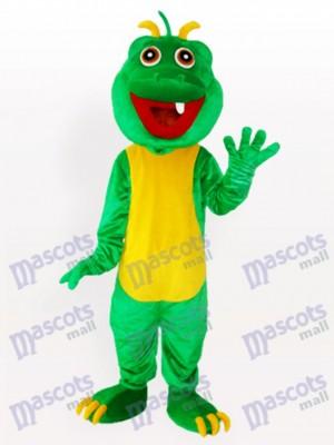 Ein Zähne grün Dinosaurier Maskottchen Kostüm