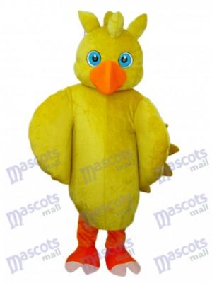Gelbe Küken Maskottchen Erwachsene Kostüm Tier