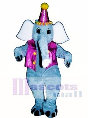 Elliot Elefant mit Weste & Hut Maskottchen Kostüm