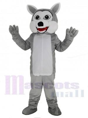 Komisch Grau Wolf Maskottchen Kostüm Tier