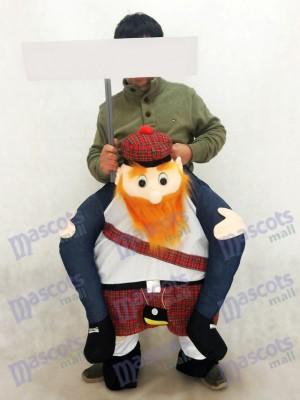 Carry Me Scottish Maskottchen Kostüm Ride On Piggy Zurück Scotsman