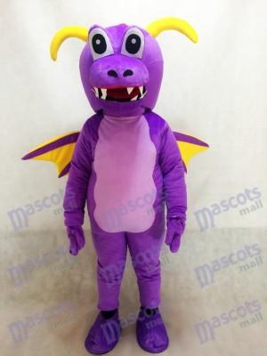 Nettes purpurrotes Dorn Drache Maskottchen Kostüm