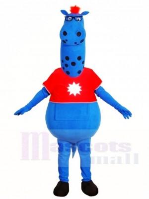 Blau Monster im roten Hemd Maskottchen Kostüme Fantasy