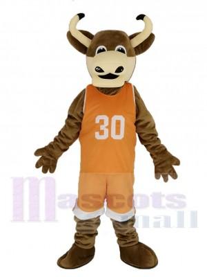 Texas Longhorns Stier im Orange Sportbekleidung Maskottchen Kostüm Tier