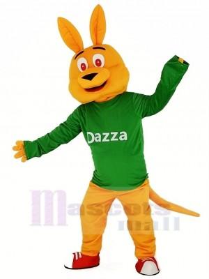 Orange Känguru mit Lange Ärmel Maskottchen Kostüm Karikatur