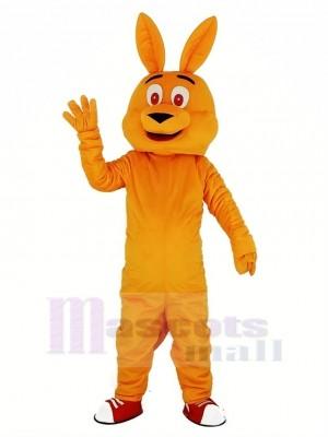 Orange Känguru Maskottchen Kostüm Karikatur
