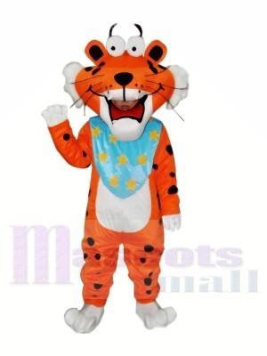 Beschmutzter lustiger Tiger Maskottchen Kostüm für Erwachsene Kostenloser Versand