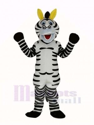 glücklich Zebra Maskottchen Kostüm Tier