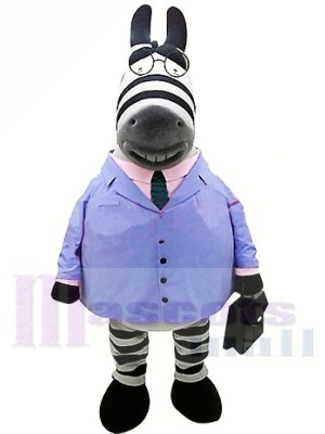 Geschäfts-Zebra im blauen Anzug