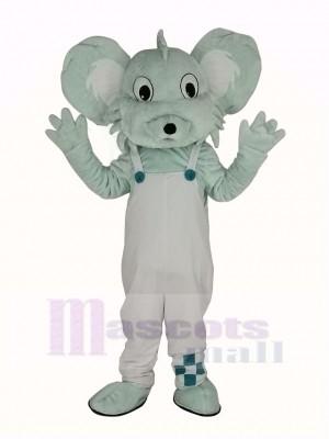 Grau Koala im Weiß Mantel Maskottchen Kostüm