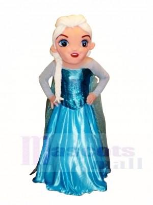 Gefroren Elsa Maskottchen Kostüm Karikatur