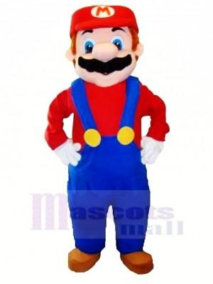 Komisch Charakter Mario Maskottchen Kostüm Karikatur