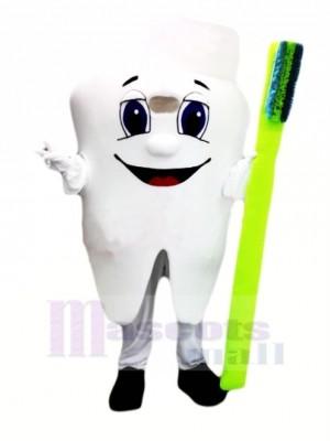 Gesund Zahn Maskottchen Kostüm Karikatur