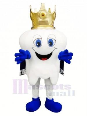 glücklich Zahn Maskottchen Kostüm Karikatur