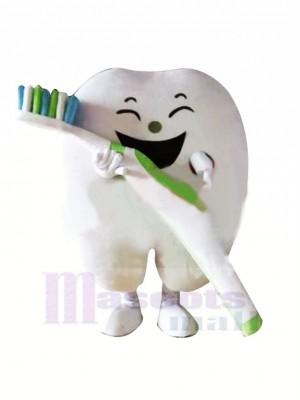 Lächelnd Zahn Maskottchen Kostüm Karikatur