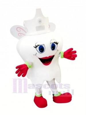 Süß Zahn Maskottchen Kostüm Karikatur
