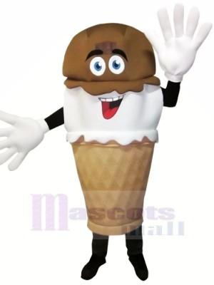 Handgetaucht Eis Sahne Maskottchen Kostüm Karikatur