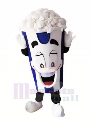 glücklich Popcorn Maskottchen Kostüm Karikatur