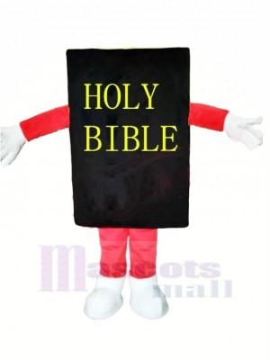 Schwarz Bibel Maskottchen Kostüm Karikatur