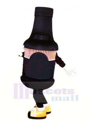 Marrant Noir Bouteille Mascotte Costume Dessin animé