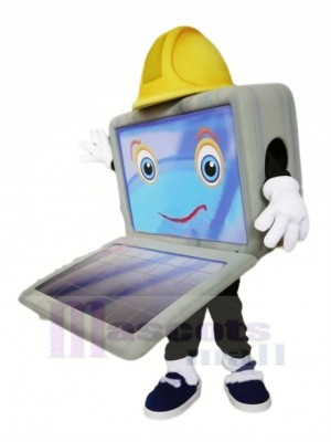 Süß Komisch Computer Maskottchen Kostüm Karikatur