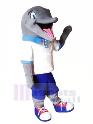 Niedlich Sport Delfin Maskottchen Kostüm Karikatur