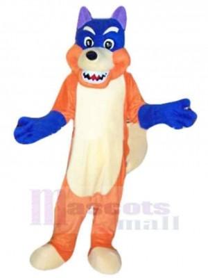 Wolf maskottchen kostüm