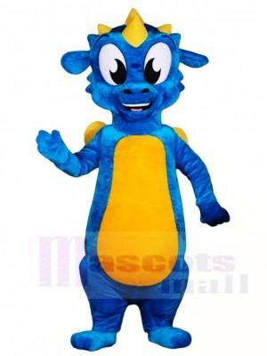Blauer Drache mit gelben Flügel Maskottchen Kostümen